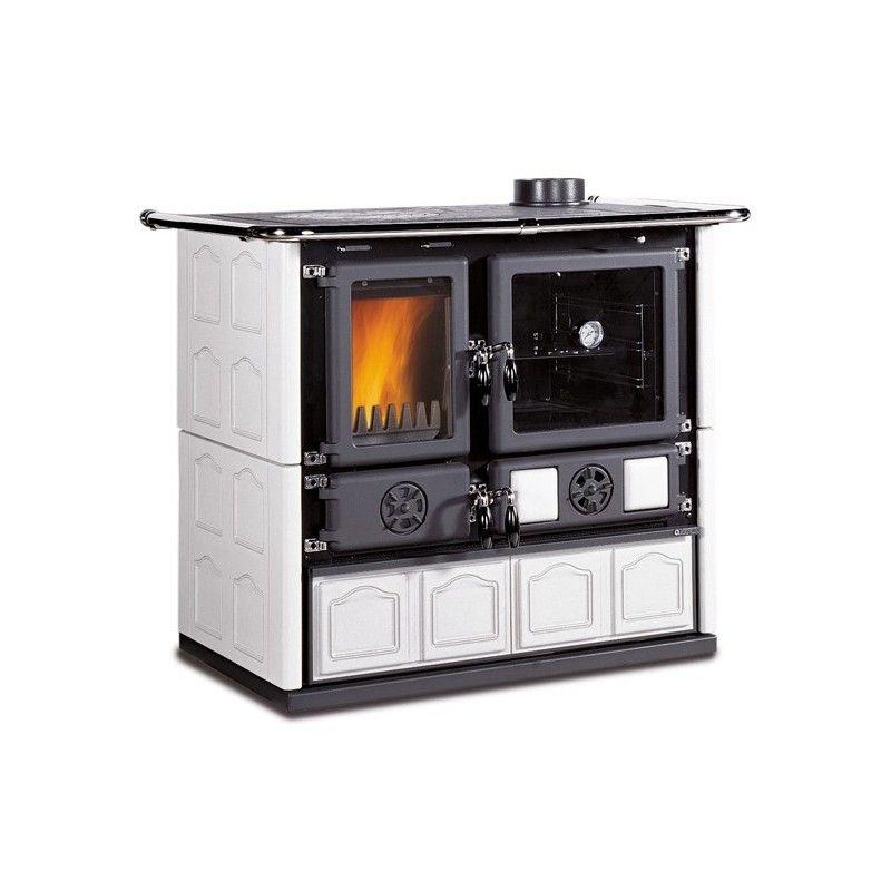 cucina a legna rosa maiolica la nordica extraflame. Black Bedroom Furniture Sets. Home Design Ideas