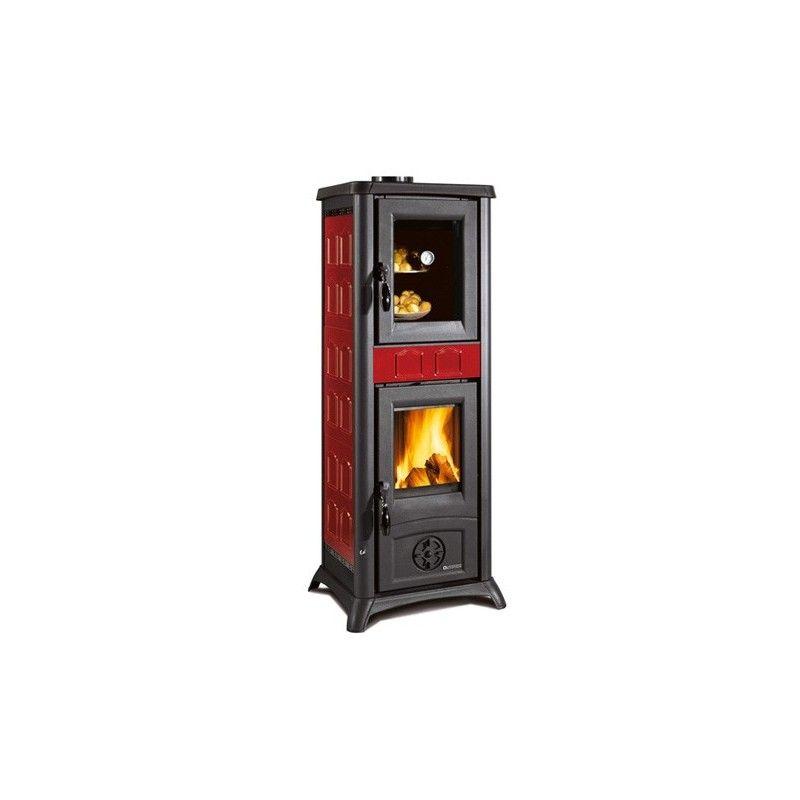 Stufa a legna gemma forno la nordica extraflame ottimoshop - Stufa a legna per cucinare ...