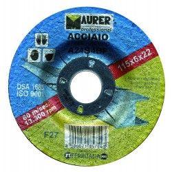 DISCO PER SMERIGLIATRICE TAGLIO FERRO/ACCIAIO 115mm - MAURER