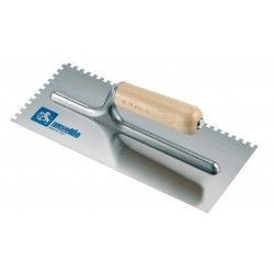 Frattazzo per colla 28x12 manico legno Dente 7,5x7,5- AUSONIA