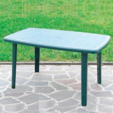 Tavolo da giardino in resina 137x85 ottimoshop for Tavoli da giardino in resina